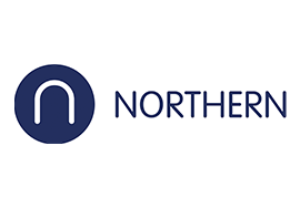 Northern Trains logo on white background
